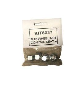 Bradley M12 x 1.5 Wheel Nuts pack of 4