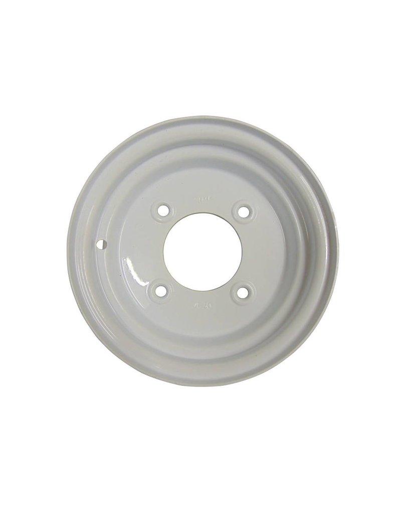 Trailer Wheel 10 inch Rim Steel 3.50J x 5.5inch PCD x 4 Holes - White | Fieldfare Trailer Centre