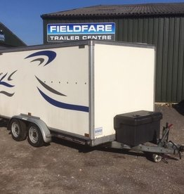 Used Brian James Covered A-Max Car Trailer