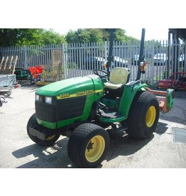 John Deere 4200 Compact Tractor & Flail Mower