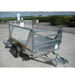 Batesons Batesons B64 Light Goods Trailer, Mesh Sides, Spare Wheel, Prop Stands