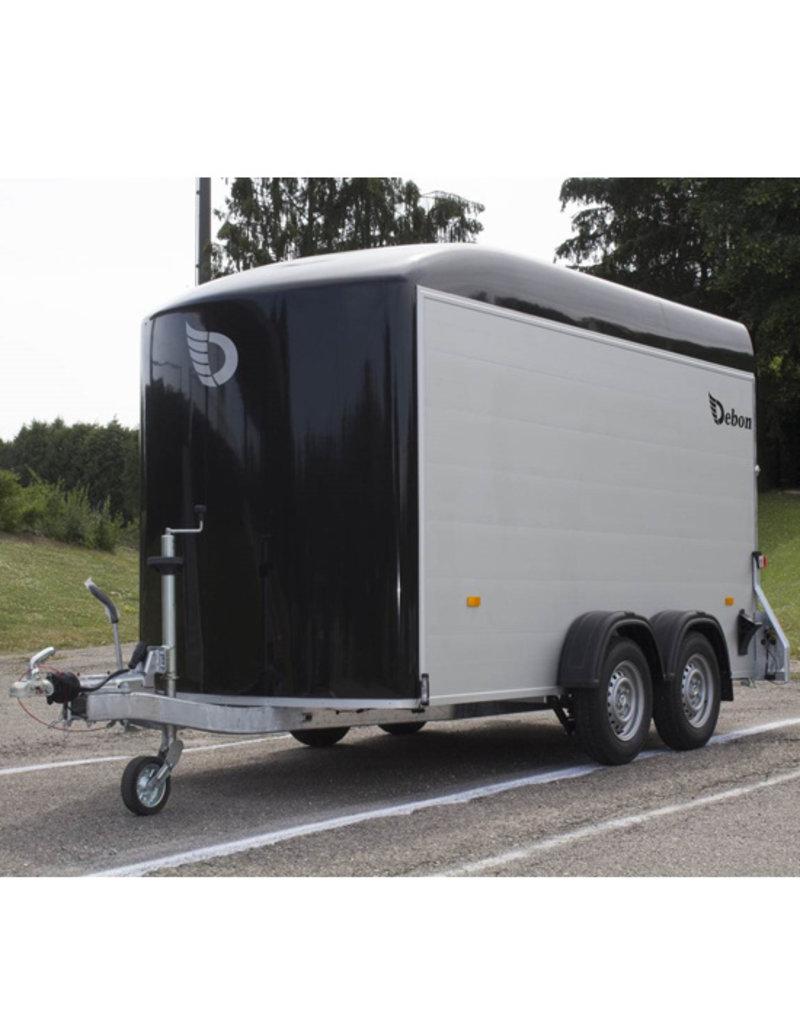 Debon Debon Roadster 500 XL Box Van Trailer- Alu Sides in Black 2.6t GVW c/w Spare Wheel & Carrier
