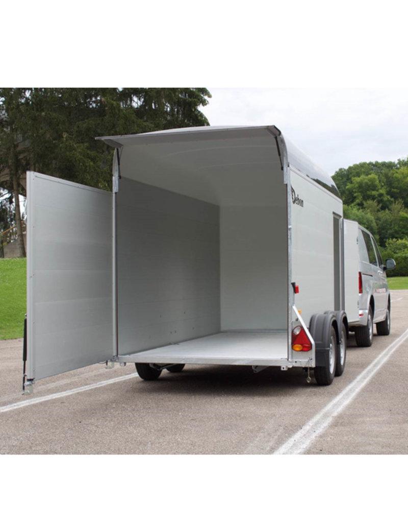 Debon Debon Roadster 500 XL Box Van Trailer- Alu Sides in Anthracite 2.6t GVW c/w Spare Wheel & Carrier