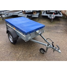 Used Brenderup 1150S Unbraked Goods Trailer c/w Flat Cover