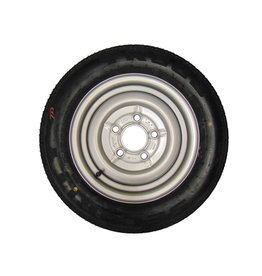 155/70R12C 5 STUD 112mm PCD ET20 Silver Trailer Wheel and Tyre
