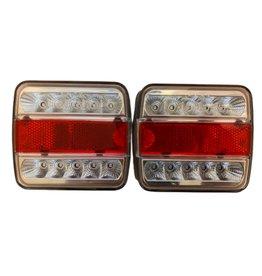 Pair of GWAZA Trailer Rear Light 12V LED 15007