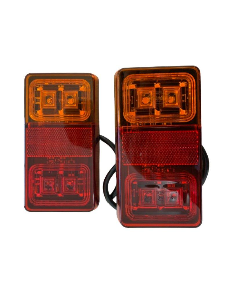 GWAZA Rear Trailer Lamp 3 in 1 LED 12V Set of 2 | Fieldfare Trailer Centre