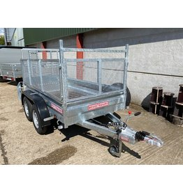 Wessex Trailers Wessex WG84 Twin Axle Braked Goods Trailer 2.6t GVW, Ramp Tailgate, Mesh Sides, Spare Wheel & Carrier
