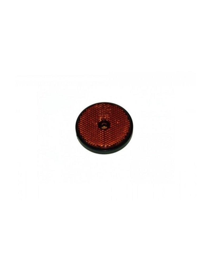 70mm Round Amber Reflector