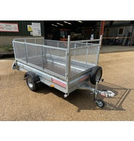 Wessex Trailers Wessex UBGT84 Single Axle Unbraked Goods Trailer 750kg GVW, Mesh Sides, Ramp Tailgate, Spare Wheel & Carrier