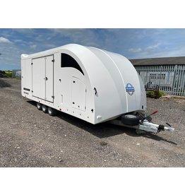 Used Brian James Race Transporter 6 - 376-2030- 5.5m x 2.35m, 3500kg GVW, Tri-Axle on 10 inch Wheels