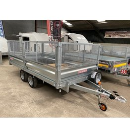 Wessex Trailers Wessex PL126 Platform Trailer, Drop Sides, Mesh Sides, Alloy Loading Ramps and Stowage, Spare Wheel & Carrier