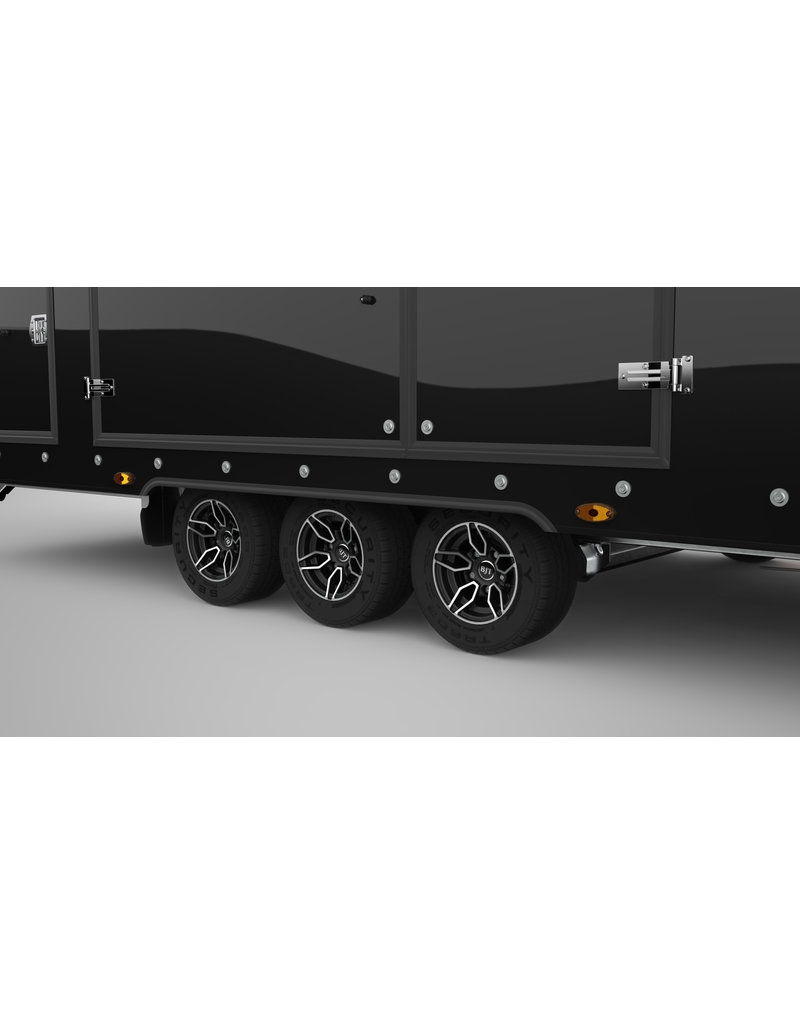 "Brian James 396-3030 Black RT6 MY2021  5.5m x 2.35  Tri-Axle on 10"" Wheels Plus Options"