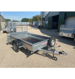 Wessex Trailers Wessex WG85S Single Axle Braked Goods Trailer 1.3t GVW, Ramp Tailgate, Spare Wheel & Carrier