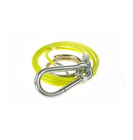 1m X 3mm Yellow PVC Breakaway Cable