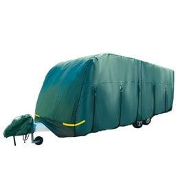 4.1m (14′) Premium Green 4-Ply Caravan Cover