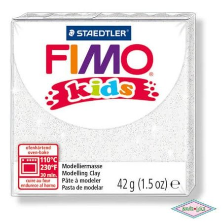 Fimo kids 42g wit glitter
