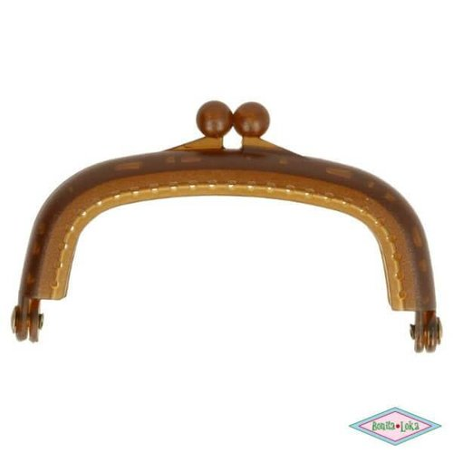 Portemoneesluiting 8,5 cm bruin