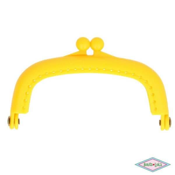 Portemoneesluiting 8,5 cm geel
