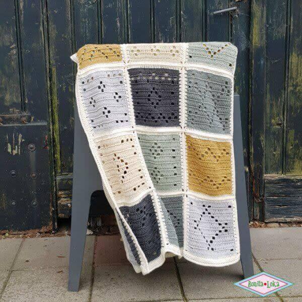 Blokkendeken Natuur Tinten Haakpakket Atelier Bonita Loka
