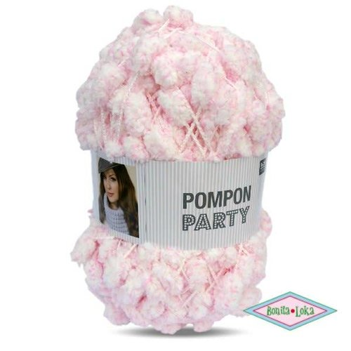Rico Rico Creative Pompon 5 meter 002 Party Roze