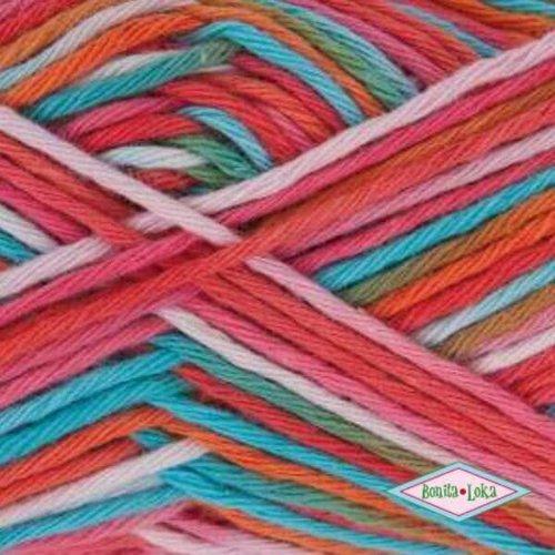 Rico Rico Creative Cotton Print Aran 04 Rood-Blauw