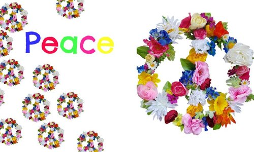 Ibiza style: 'Peace around the world' in bloemen