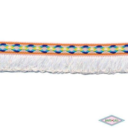 Franjeband Ibiza stijl wit 25mm
