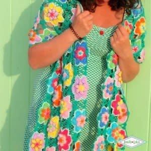 Haakpakket Vrolijke Bloemensjaal Atelier Bonita Loka
