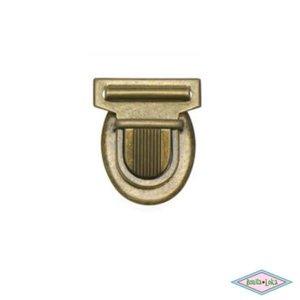Metalen tas sluiting bronskleurig 30x35mm