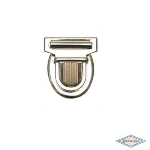 Metalen tas sluiting zilverkleurig 30x35mm