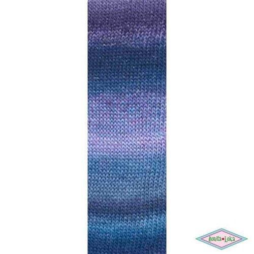 Lang Yarns Lang Yarns Mille Colori Socks Lace Luxe 25 Paars blauw