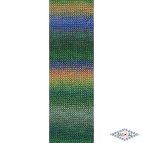 Lang Yarns Lang Yarns Mille Colori Socks Lace Luxe 97 groen tinten