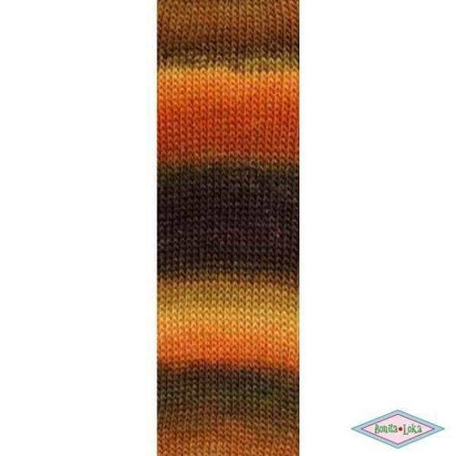 Lang Yarns Lang Yarns Mille colori socks lace luxe 068 oranje/bruin