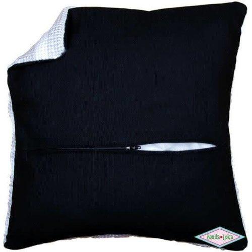 Vervaco Vervaco kussenachterkant met ritssluiting 45x45 cm zwart