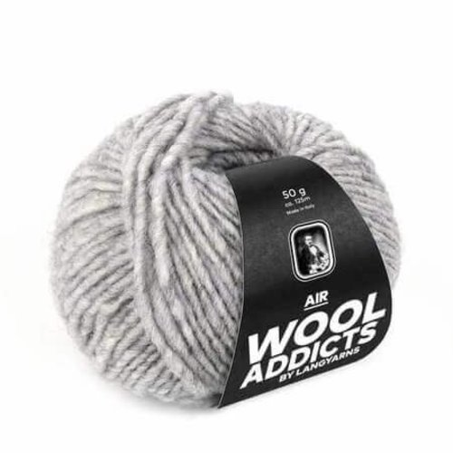 Lang Yarns Lang Yarns Wooladdicts Air lichtgrijs gemeleerd 3