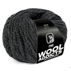 Lang Yarns Wooladdicts Fire antraciet 70