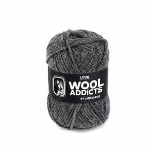 Lang Yarns Wooladdicts Love grijs gemeleerd 5