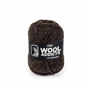 Lang Yarns Wooladdicts Love donkerbruin 67