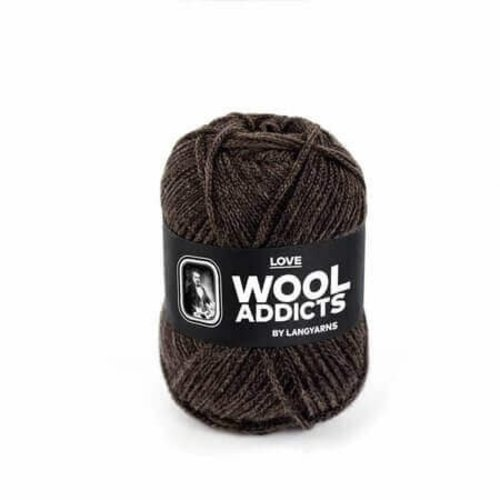 Lang Yarns Lang Yarns Wooladdicts Love donkerbruin 67
