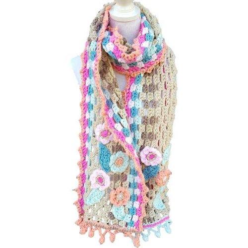 Vrolijke Sjaal Blossom haakpakket