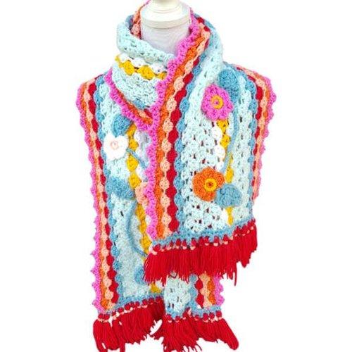 Vrolijke Sjaal Mint haakpakket