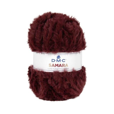 DMC DMC Samara luxe fur effect Yarn 405 Bordeaux rood