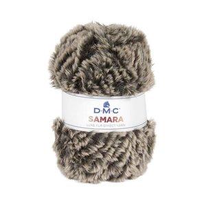 DMC Samara luxe fur effect Yarn 403 bruin gemeleerd
