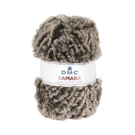 DMC DMC Samara luxe fur effect Yarn 403 bruin gemêleerd