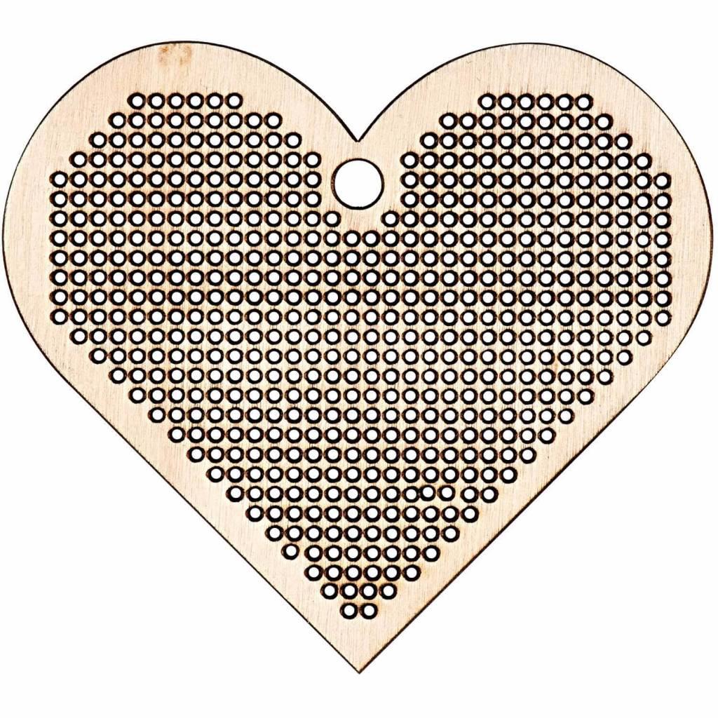 Rico Rico borduren houten hart