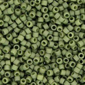 miyuki delica's 11/0 5gr. 391 opaque matte luster olive