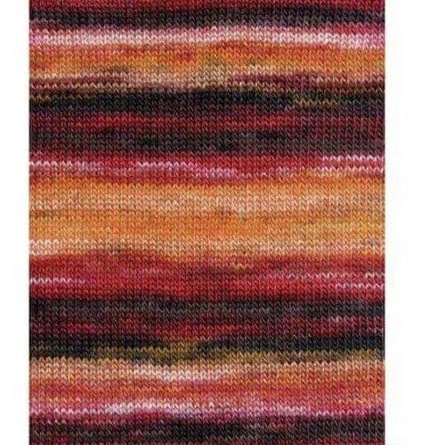 Lang Yarns Lang Yarns Dipinto 61 roze/oranje/rood/bordeaux