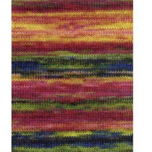 Lang Yarns Lang Yarns Dipinto 53 roze/geel/groen/blauw