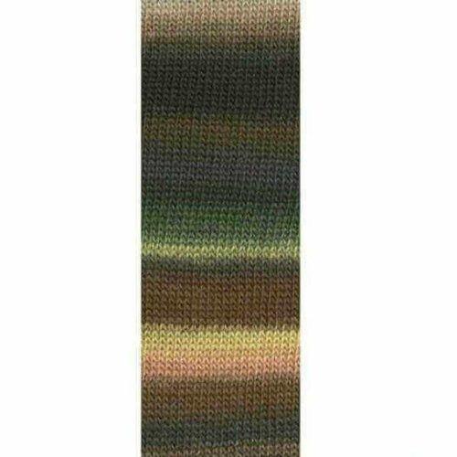 Lang Yarns Lang Yarns Mille Colori Socks Lace 67 bruin groen